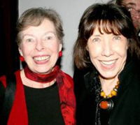 Ann Bannon and Lily Tomlin