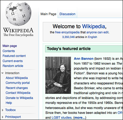 featured article on Wikipedia